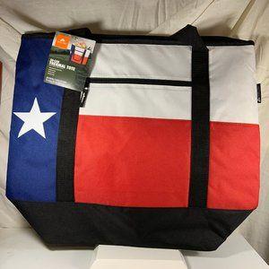 Texas Flag Thermal Tote Bag 50 Can Capacity